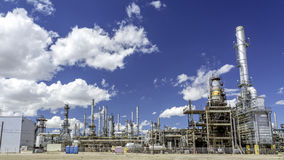 Oil Refinery factory producing gasoline Royalty Free Stock Photography
