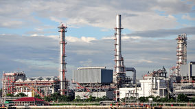 Oil refinery factory at Thailand Stock Image