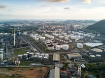Oil refinery factory in Thailand Stock Images