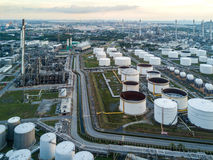 Oil refinery factory in Thailand Royalty Free Stock Images