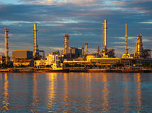 Oil refinery factory at Thailand. gold color Stock Image
