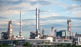 Oil refinery factory at Thailand Stock Photos