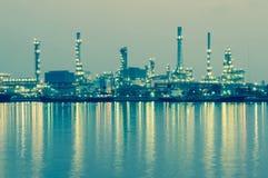 Oil refinery factory at twilight Bangkok Thailand Royalty Free Stock Photos