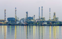 Oil refinery factory at twilight Bangkok Thailand Royalty Free Stock Image