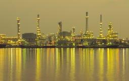 Oil refinery factory at twilight Bangkok Thailand Stock Photos