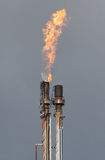 Oil Refinery Gas Flare Royalty Free Stock Photo