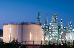 Oil refinery gas industry plant of petroleum Stock Image