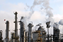 Oil refinery III Stock Photos
