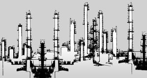 Oil refinery illustration Stock Photography