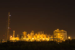 Oil refinery industrial plant at night royalty free stock photos