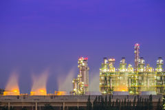 Oil refinery industrial plant with sky Royalty Free Stock Photo
