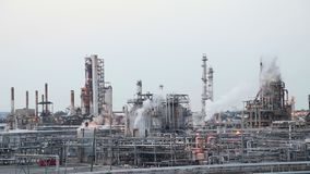 Oil refinery. In industrial zone stock video footage