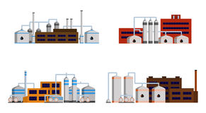 Oil refinery industry building. Stock Photography