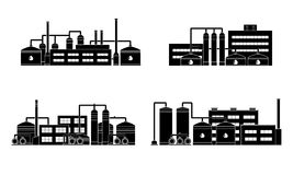 Oil refinery industry building. Royalty Free Stock Photography