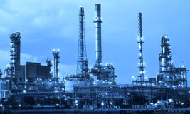 Oil refinery industry in metalic color style use as metal style Stock Image