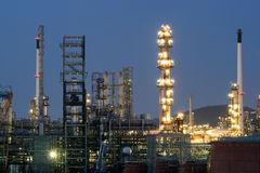 Oil refinery industry or petroleum industry with oil storage tan Stock Photography