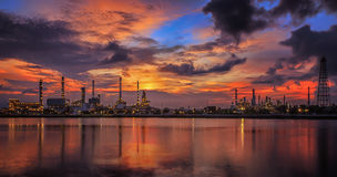 Oil refinery industry plant Stock Images