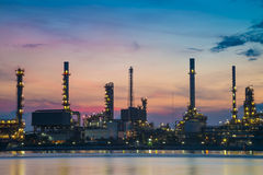Oil refinery industry plant along twilight morning 1. Oil refinery industry plant along twilight morning Royalty Free Stock Photos