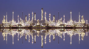 Oil refinery industry plant Stock Photo