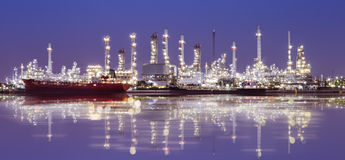 Oil refinery industry plant Royalty Free Stock Images