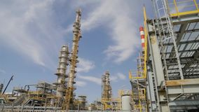 Oil refinery - Industry plant. stock video