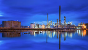 Oil refinery industry royalty free stock photography