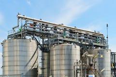 Oil refinery installation Stock Photos