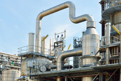 Oil refinery installation Stock Photos