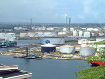 Oil refinery ISLA, Curacao Royalty Free Stock Images