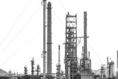 Oil refinery isolate on white background Stock Image