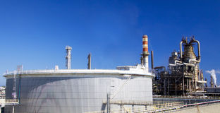 Oil refinery in Italy Stock Image