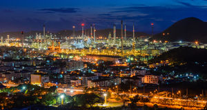 Oil refinery Laemchabang. This is Oil refinery Laemchabang in night time, Sriracha Chonburi royalty free stock images