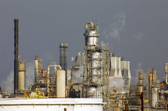 Oil refinery landscape Stock Image