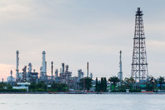 Oil refinery manufacturing Royalty Free Stock Photography