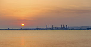 Oil refinery in Marseille Royalty Free Stock Photos