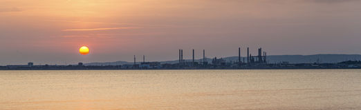 Oil refinery in Marseille Stock Photo