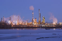 Oil Refinery on Mississippi River in St. Paul Park Stock Photography