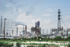 Oil Refinery. Near Houston, Texas USA Royalty Free Stock Photo