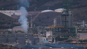 Oil refinery at night Stock Photography