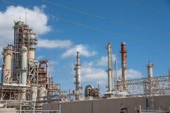 Oil refiner cloud blue sky Corpus Christi, Texas, USA Royalty Free Stock Photos