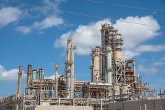 Oil refiner cloud blue sky Corpus Christi, Texas, USA Royalty Free Stock Photo