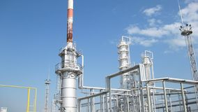 The oil refinery. Equipment for primary oil refining royalty free stock photos