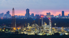 Oil refinery, Petrochemical industrial Stock Photo