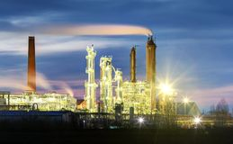 Oil refinery - Petrochemical industrial factory Stock Image