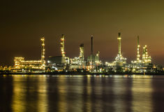 Oil refinery or petrochemical industry. Royalty Free Stock Photography