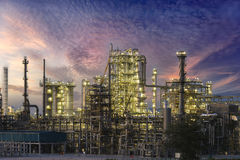 Oil refinery and petrochemical industry . Large oil-refinery plant ,Oil refinery and petrochemical industry Stock Photos