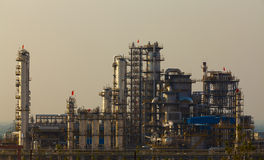 Oil refinery petrochemical industry plant Royalty Free Stock Image
