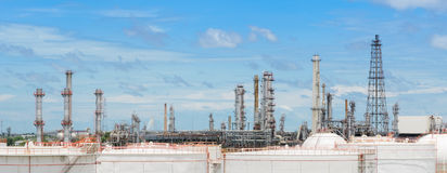 Oil refinery or petrochemical industry plant Stock Images