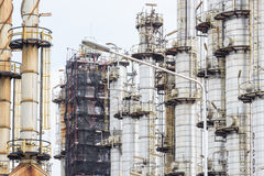 Oil refinery petrochemical tower factory Royalty Free Stock Photos