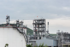 Oil refinery and Petroleum industry at day time. Petrochemical industrial royalty free stock images